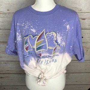 3/$20: Bleach Dyed Oversized Tourist T-Shirt